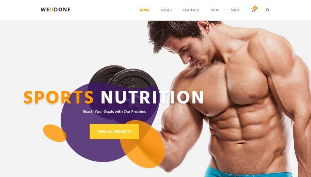 крутой спортивное питание шаблон для интернет магазина 2017