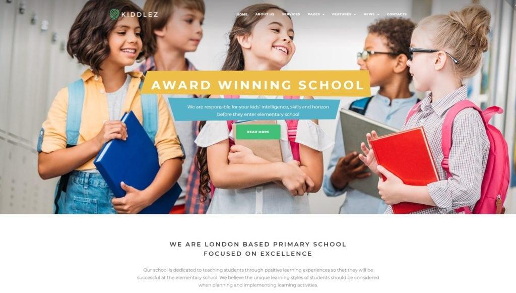 лучшие шаблоны образовательного учреждения - ТОП образовательных сайтов 01