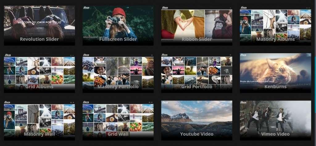 лучшие шаблоны фотограф для WordPress - премиум дизайн и функции 2017