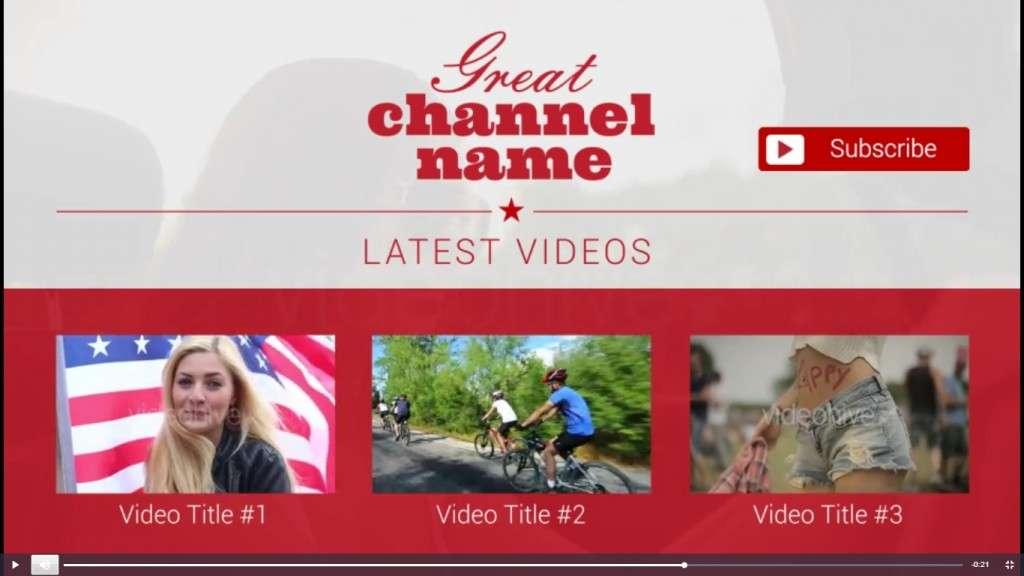 универсальные готовые заставки для видео на Youtube 2017