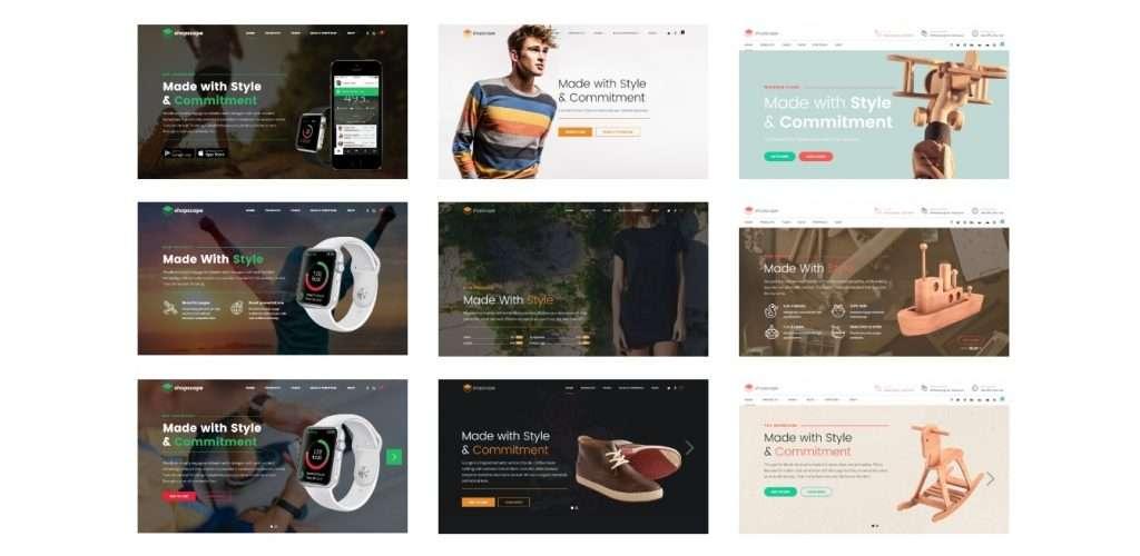 классный готовый одностраничный интернет магазин WooCommerce 2017