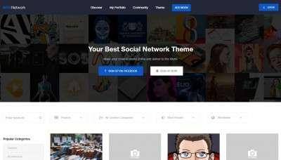 Шаблоны социальной сети WordPress 2017