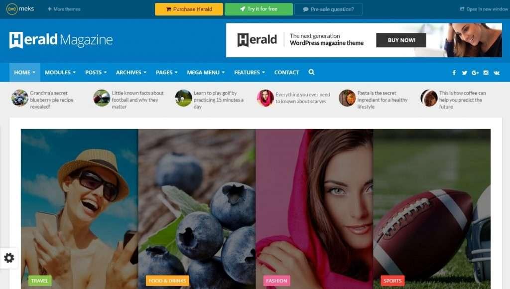 лучшие шаблоны новостных порталов на WordPress 2017 01