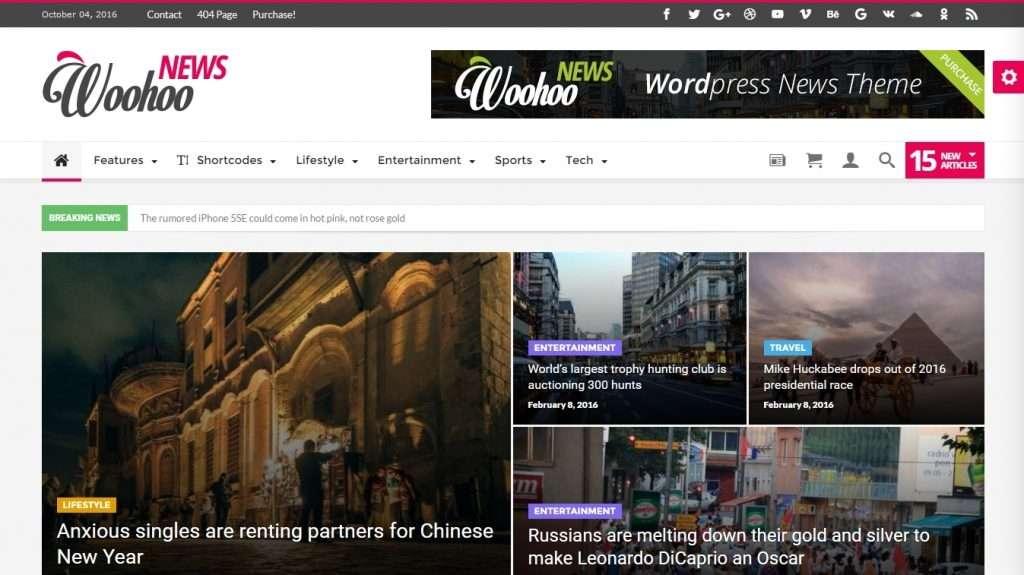 лучшие шаблоны новостных порталов на WordPress 2017 05