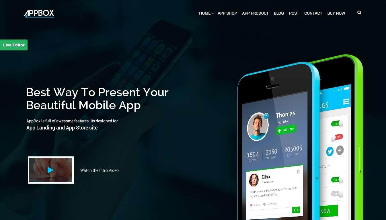 Лучшие шаблоны сайта мобильного приложения 2017