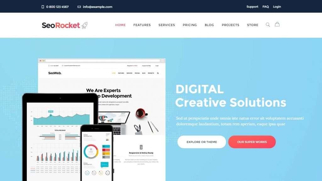 шаблон сайта рекламного агентства 2017 4