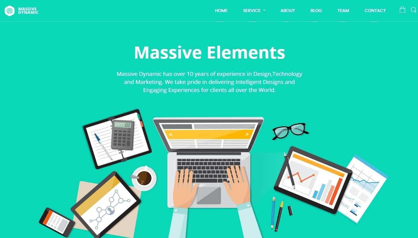 Шаблон сайта рекламного агентства с креативным дизайном