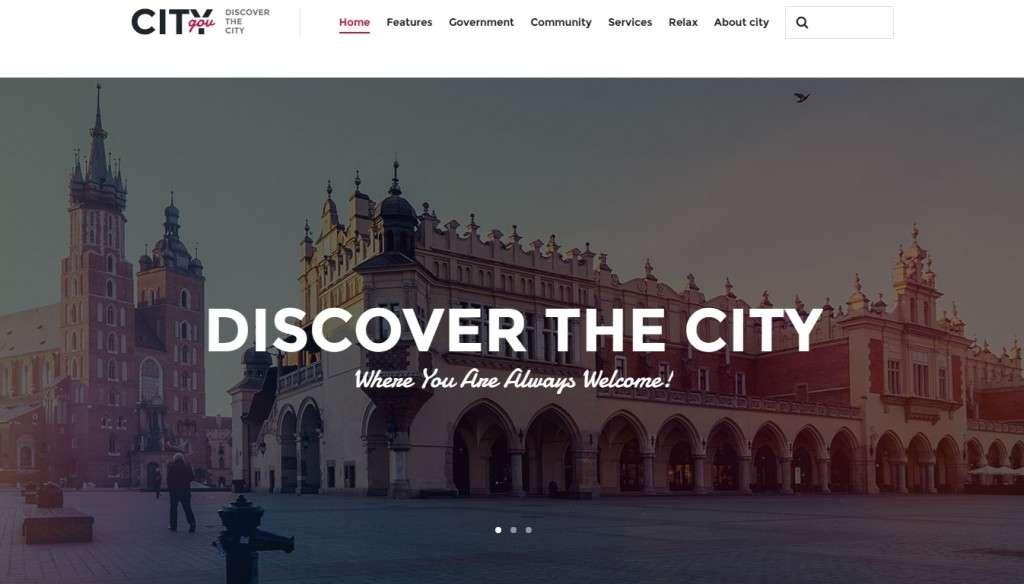 лучший шаблон городского портала на WordPress 2017 2