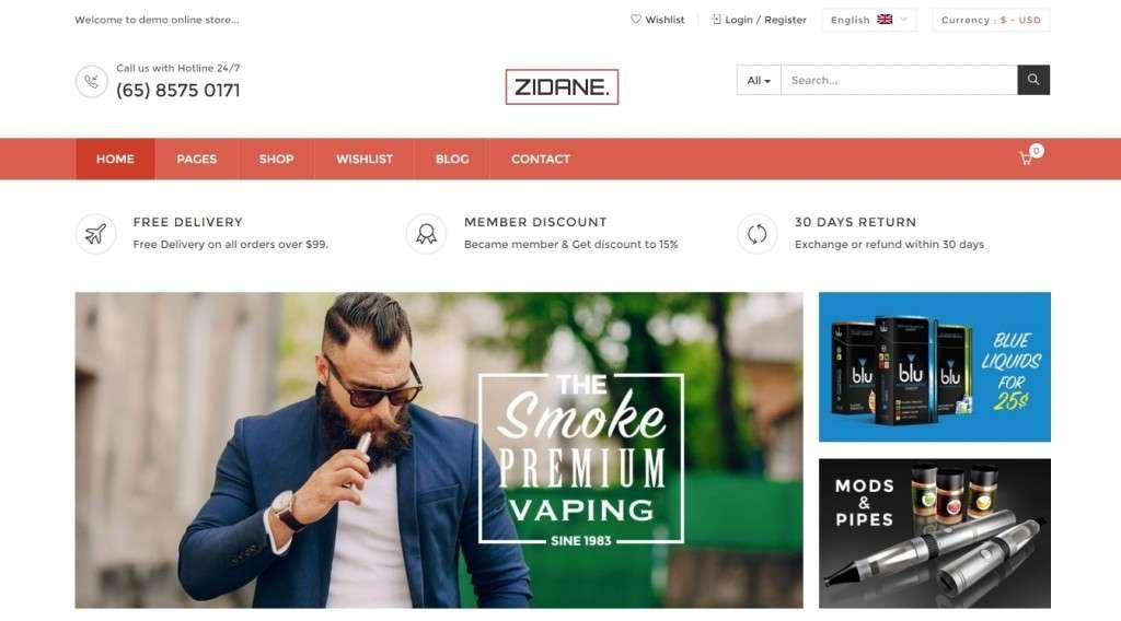 лучший шаблон магазина электронных сигарет 2017 2