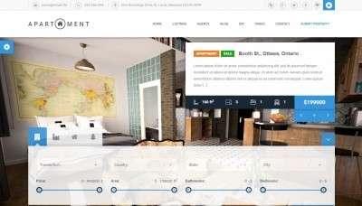 Лучший шаблон портала недвижимости c премиум дизайном