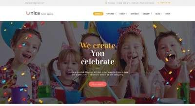 Шаблоны сайта организации праздников и мероприятий 2017
