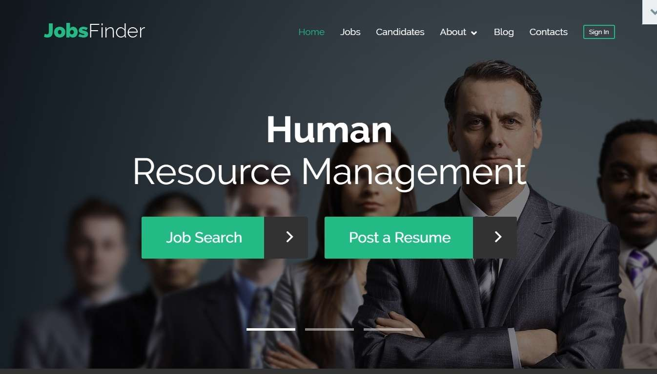 WordPress шаблон сайта поиска работы, биржи труда или сайта вакансий