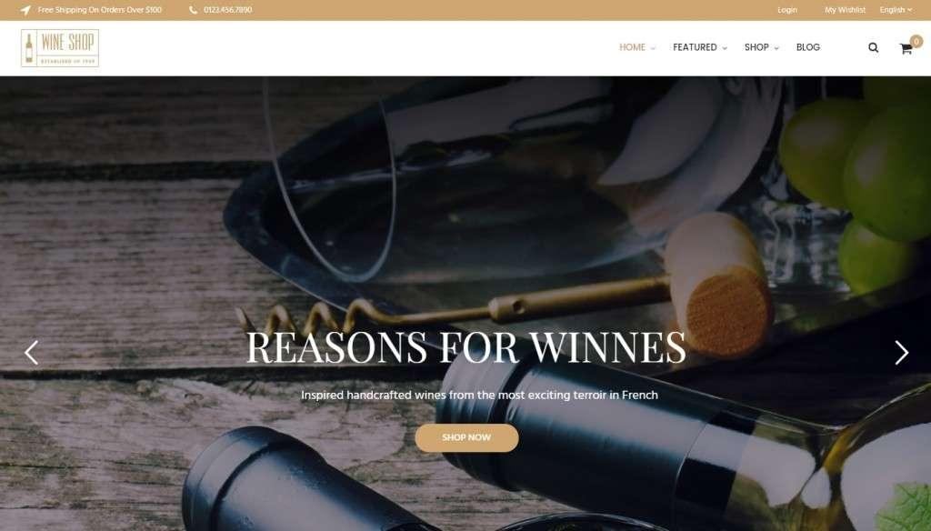 шаблон винный магазин - готовые Woocommerce интернет-магазины для виноделов 5
