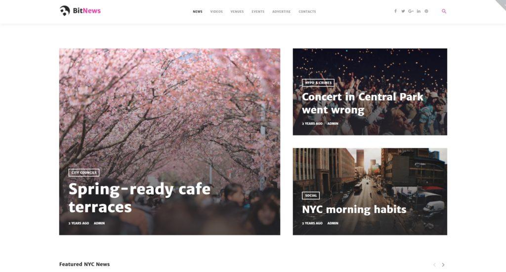 Шаблон городского портала WordPress: Создание и разработка 01