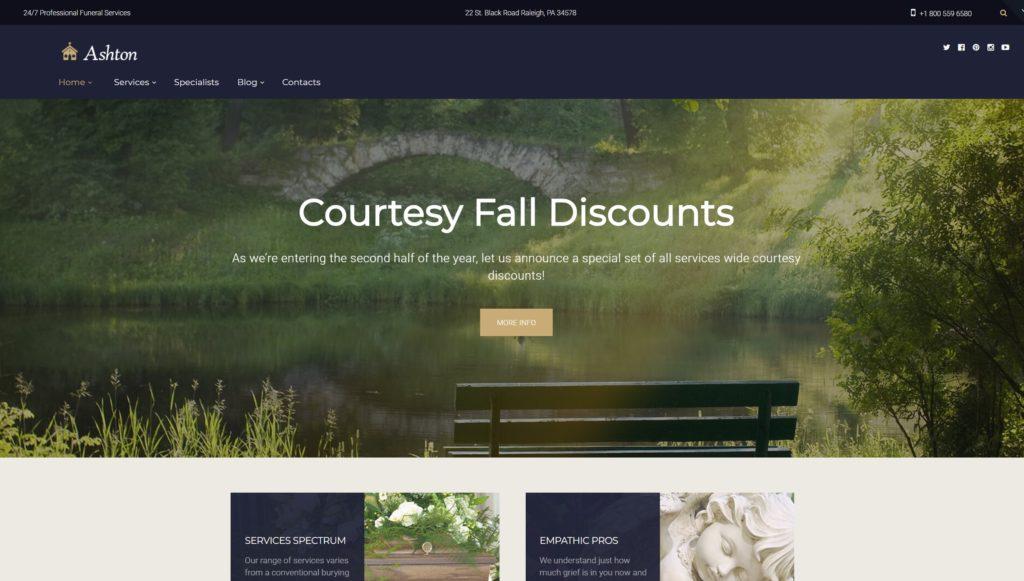 Шаблон ритуальных услуг WordPress для ритуального агентства 02