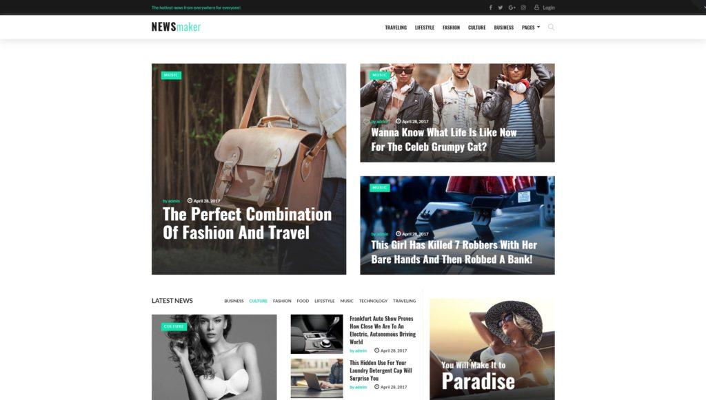 Лучшие шаблоны новостных порталов и сайтов на WordPress 01