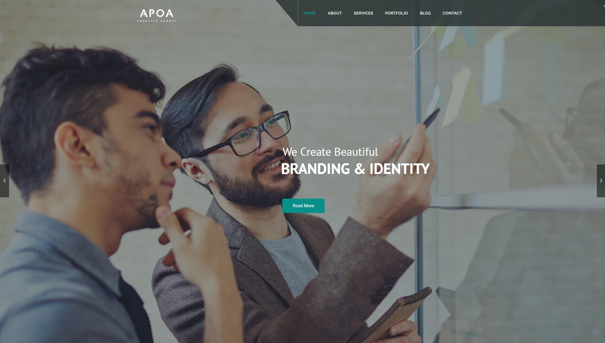 Лучшие шаблоны сайта дизайн студии с красочным портфолио