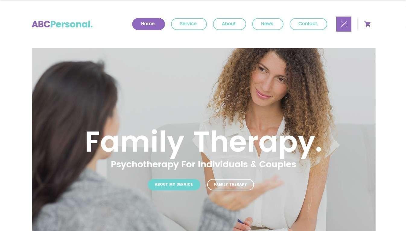 Лучший шаблон сайта психолога и психиатра 2017