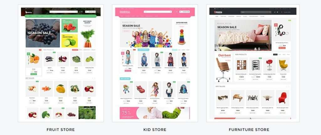 ТОП 10 красивые шаблоны интернет магазинов 2017 06