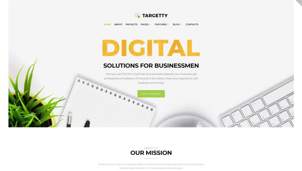 шаблон сайта рекламного агентства с креативным дизайном 03