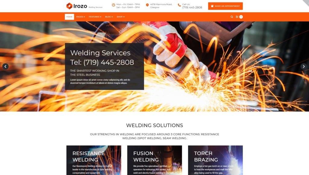 бизнес шаблоны сайта производство с отзывчивым дизайном 02