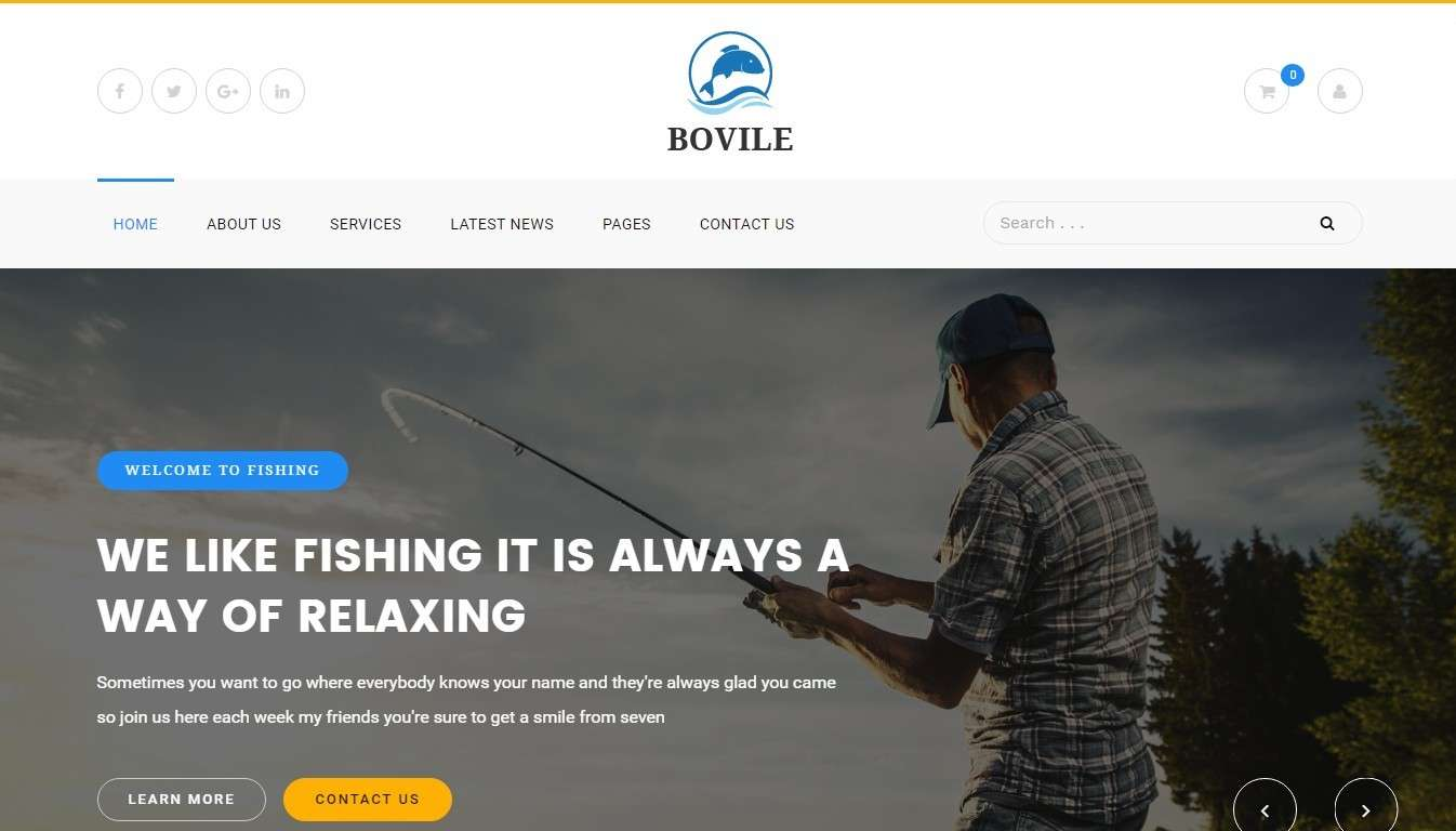 Шаблоны сайта рыбалка и интернет-магазина для рыбаков 2017