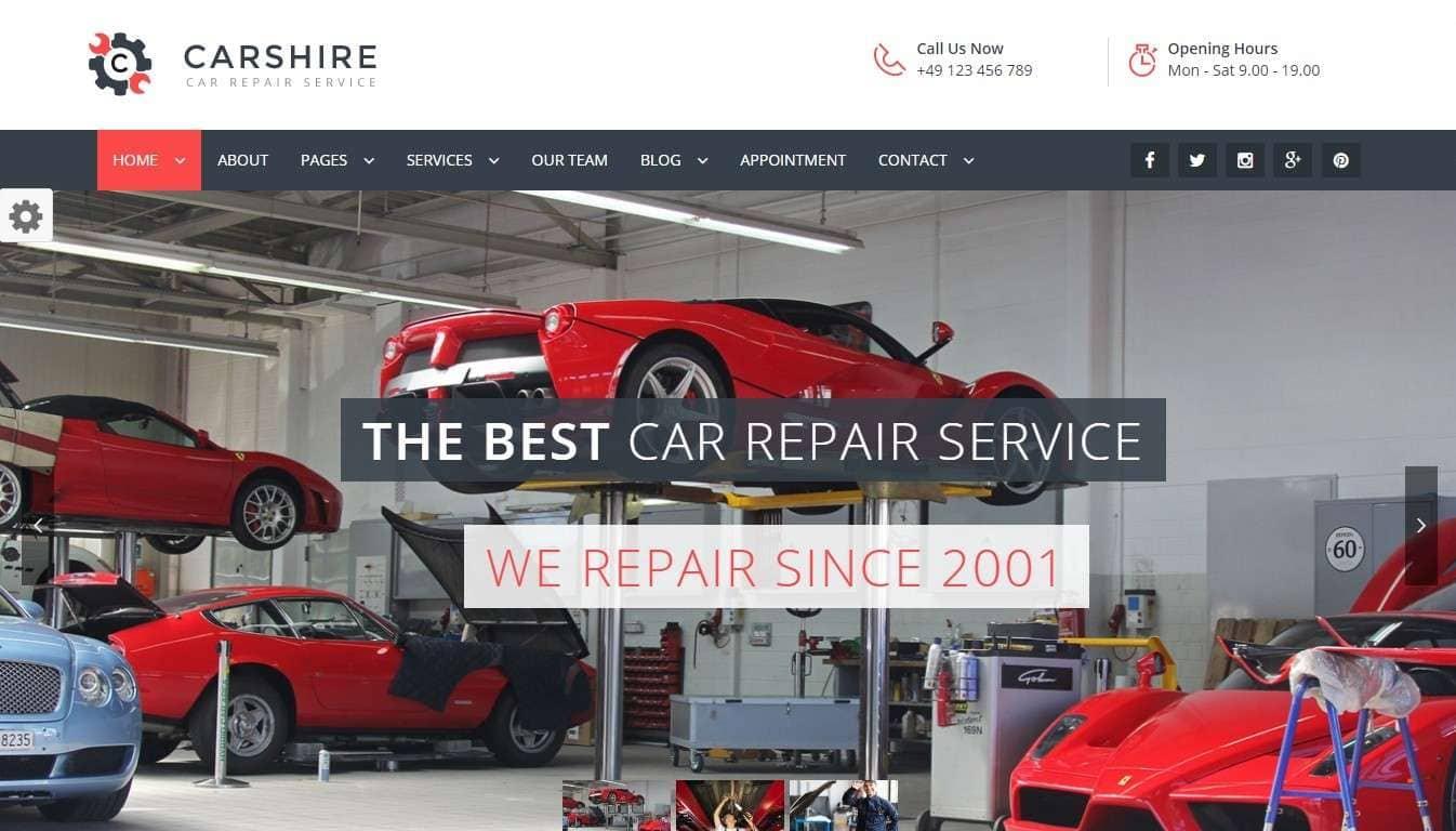 Шаблон сайта услуги – Подборка готовых сайтов 2017