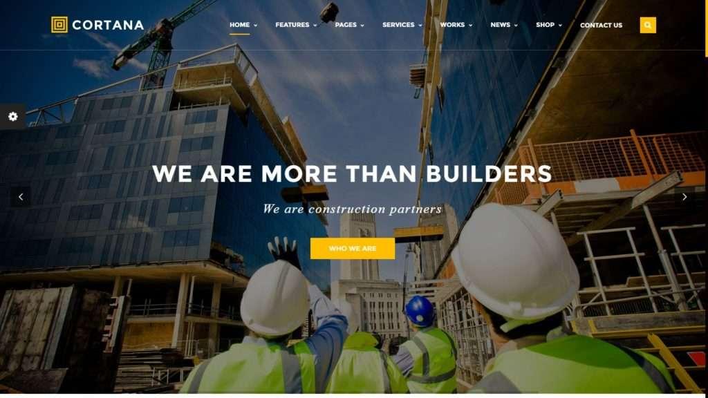 премиум шаблоны сайтов строительство домов и ремонт