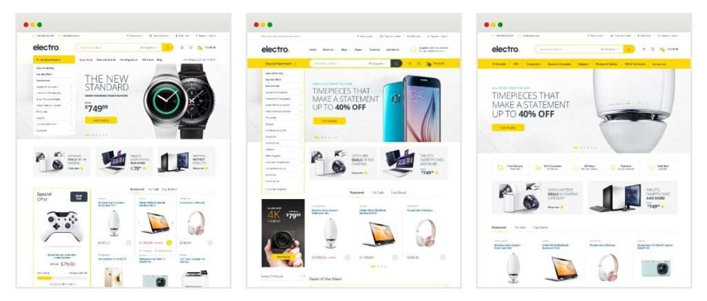 современные шаблоны WordPress для интернет магазина 4