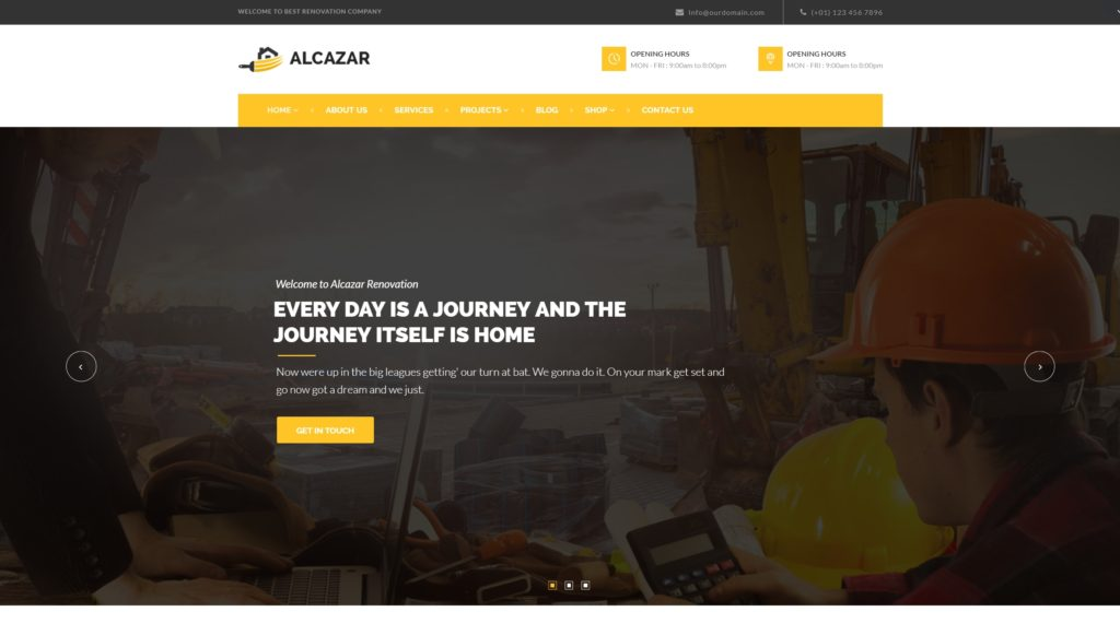Шаблоны сайтов строительство домов и ремонт на WordPress 01