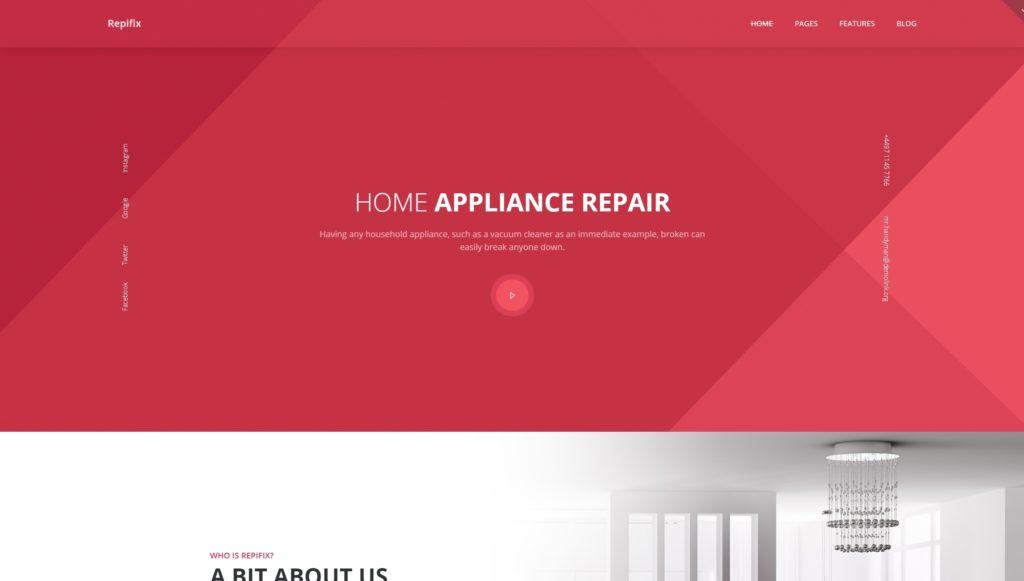 Шаблоны сайтов строительство домов и ремонт на WordPress 03