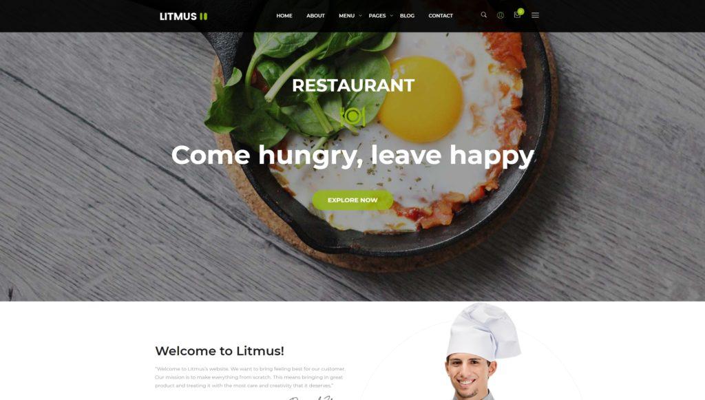 шаблон сайта доставка еды, пиццы и сухофруктов с онлайн-оплатой 01