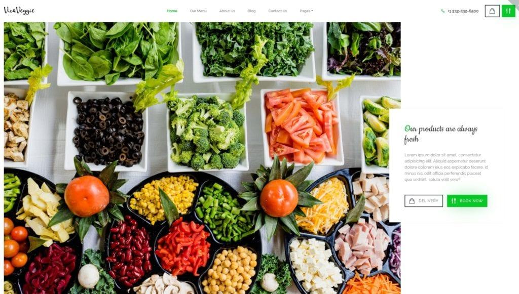 шаблон сайта доставка еды, пиццы и сухофруктов с онлайн-оплатой 02