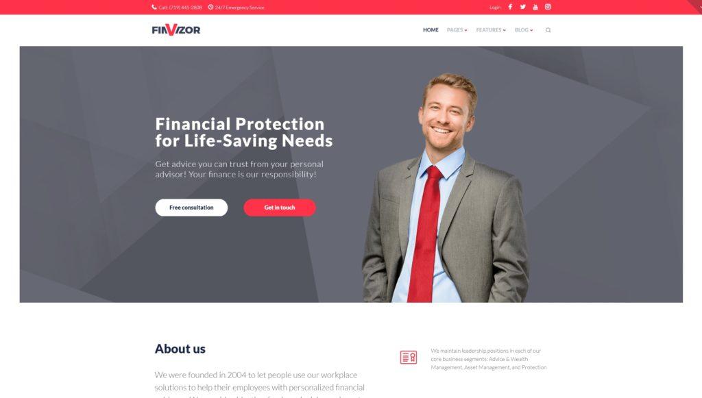 Шаблон сайта услуги – Готовые сайты для любой сферы 01