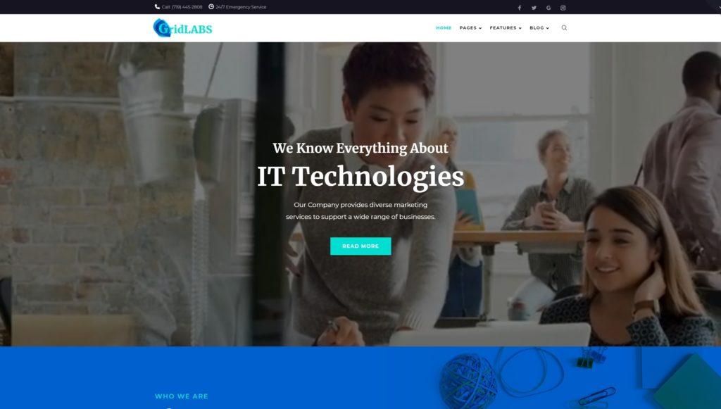 Шаблон сайта услуги – Готовые сайты для любой сферы 03