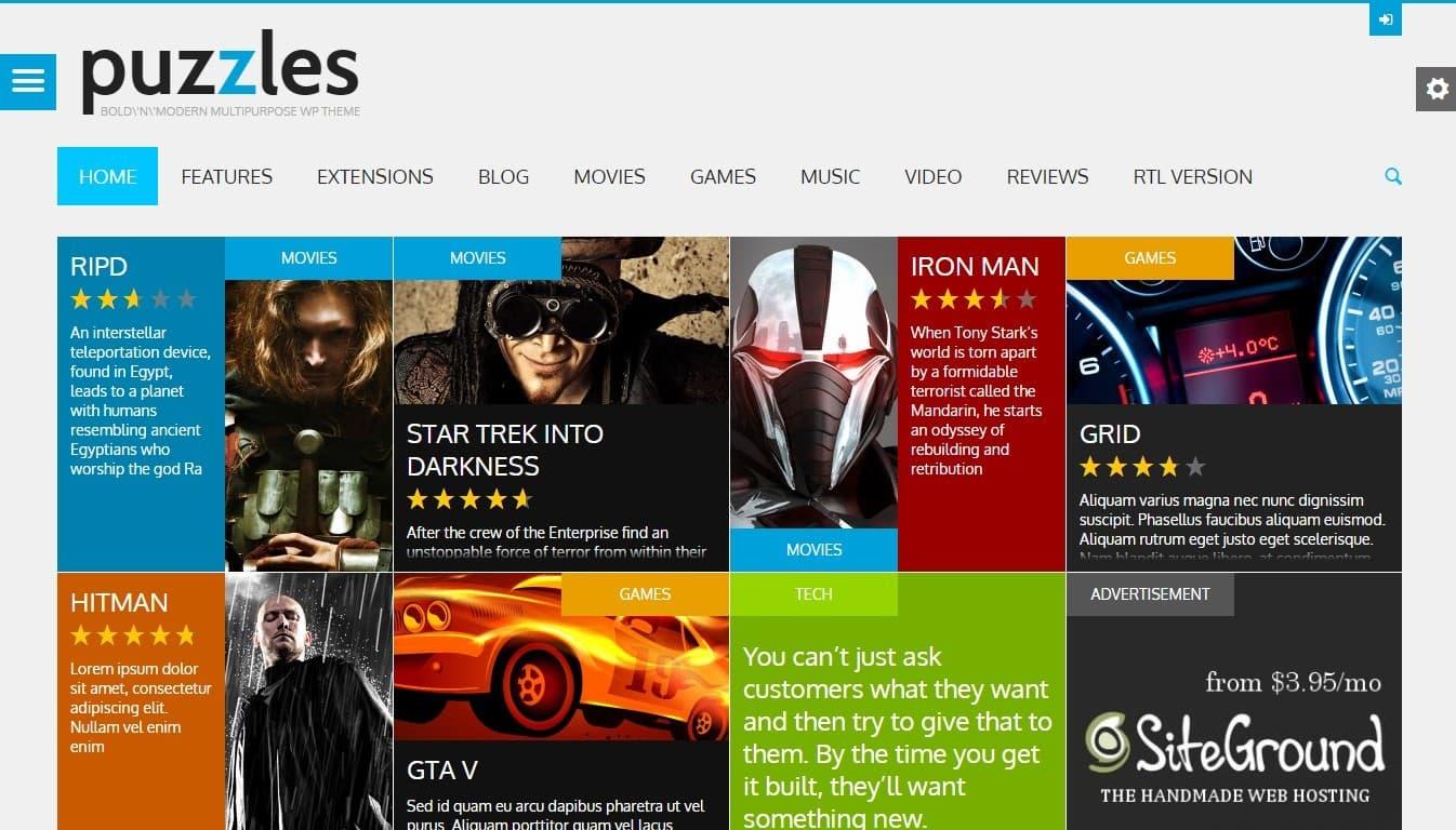 Шаблон сайта отзывов на WordPress