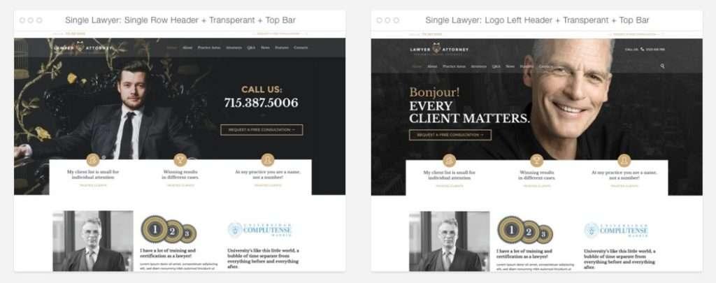 шаблоны юридических сайтов 1