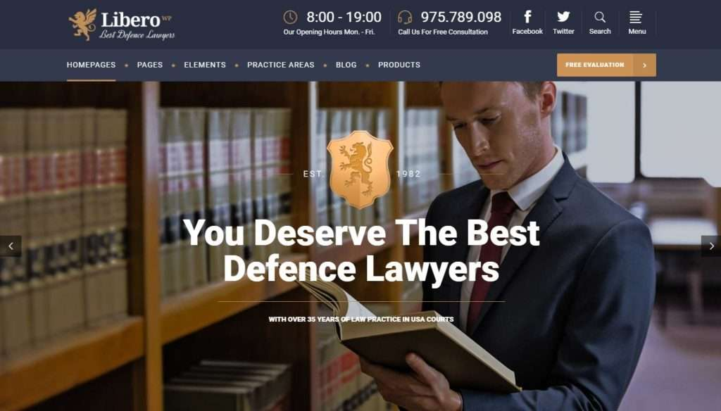 шаблоны юридических сайтов 4