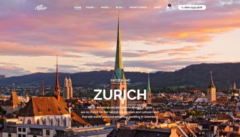 WordPress туризм - первоклассный сайт с премиум дизайном 1