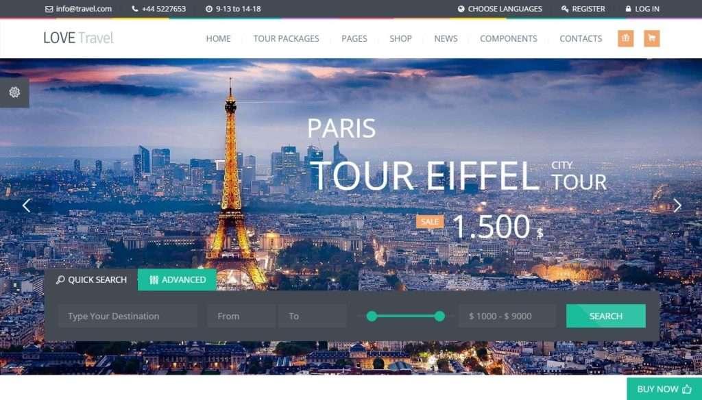 WordPress туризм - первоклассный сайт с премиум дизайном 2