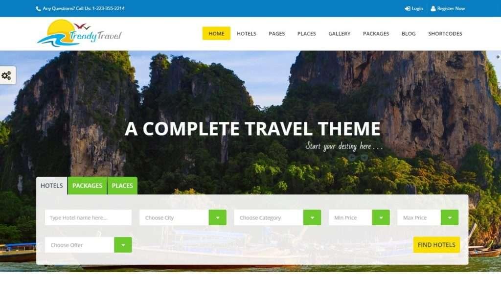 WordPress туризм - первоклассный сайт с премиум дизайном 3