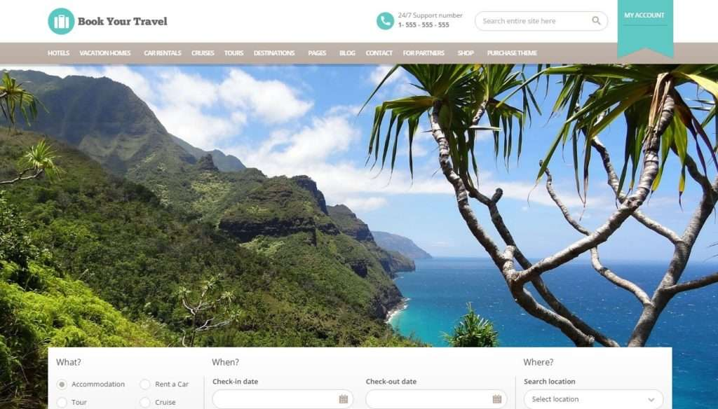 WordPress туризм - первоклассный сайт с премиум дизайном 5