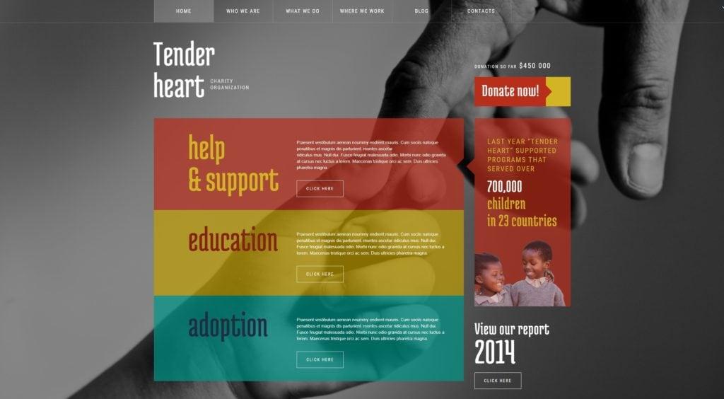 WordPress темы для некоммерческих организаций и благотворительности 02