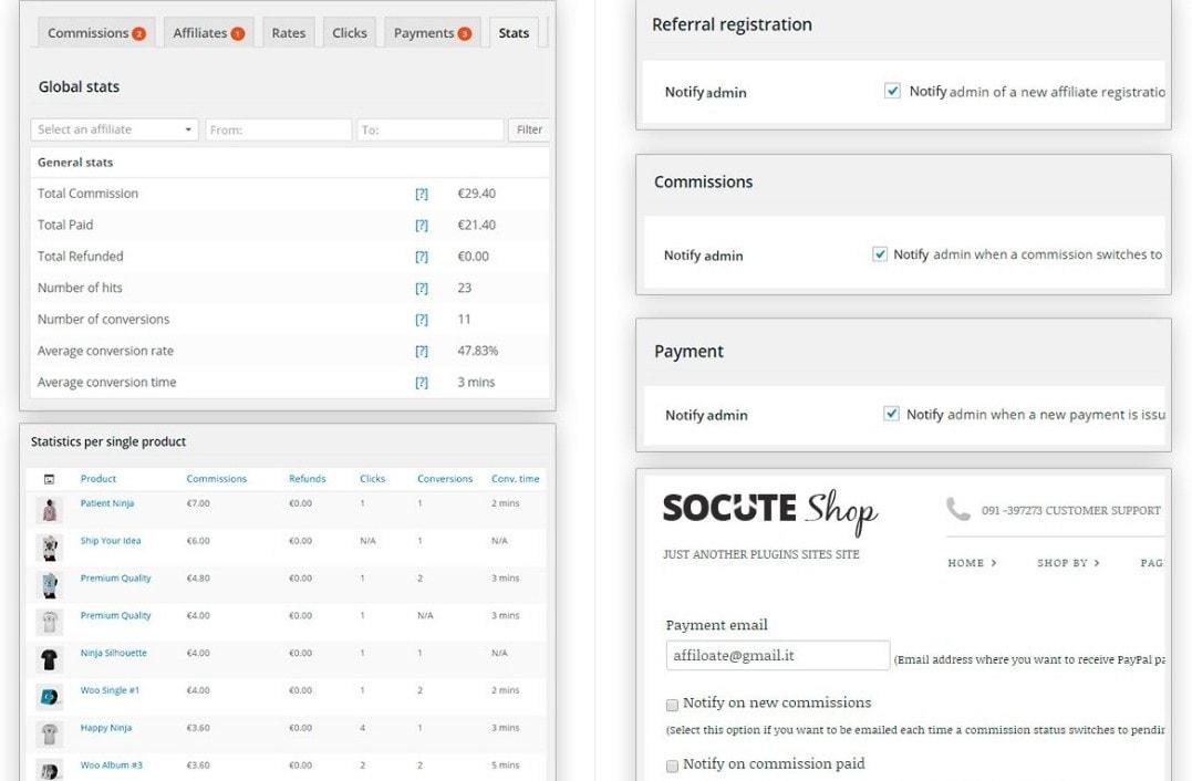 плагин партнерской программы для WordPress интернет магазина на WooCommerce 2
