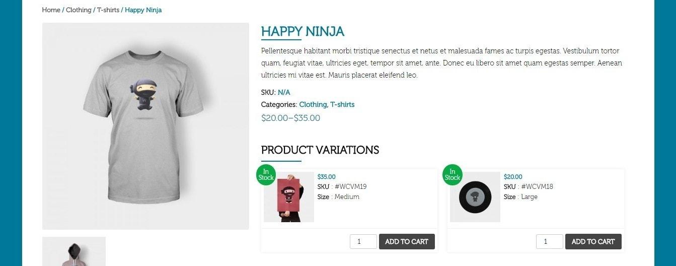 вариативный товар WooCommerce: продажа товаров на любой вкус 3