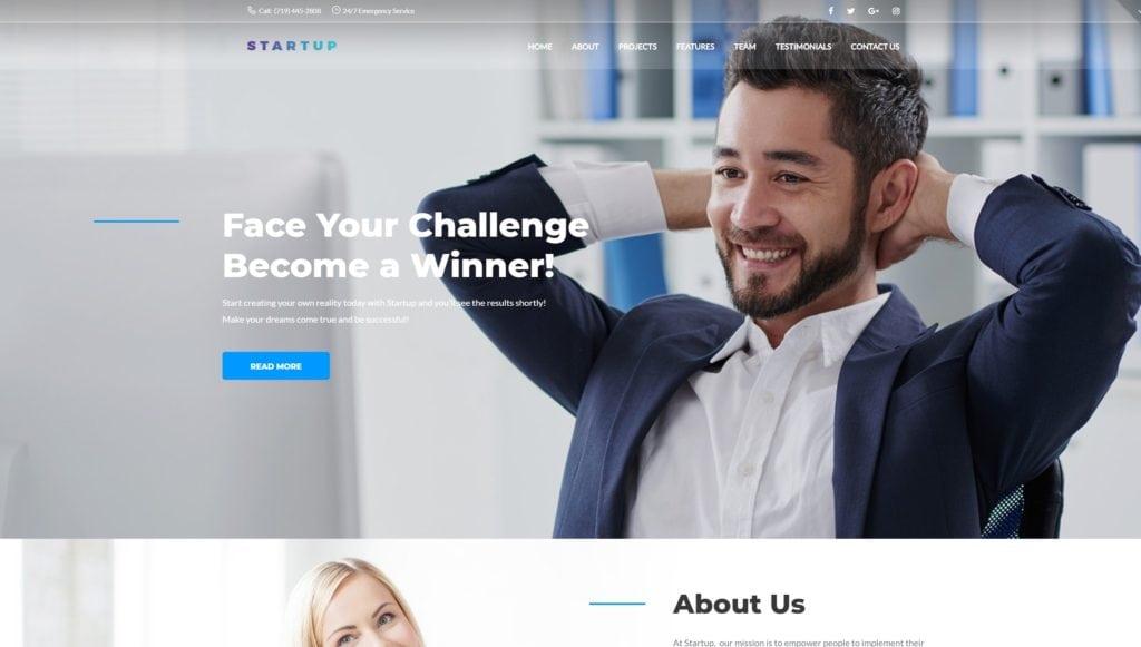Корпоративные темы на WordPress для профессионального сайта 01