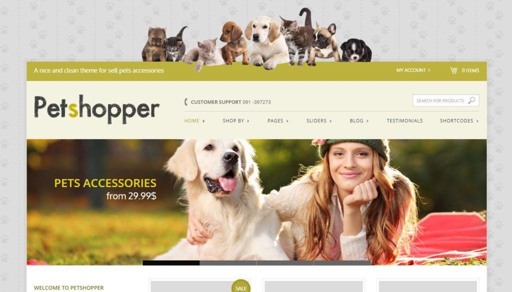 шаблоны зоомагазинов на WordPress: ваш бизнес в надежных руках 2