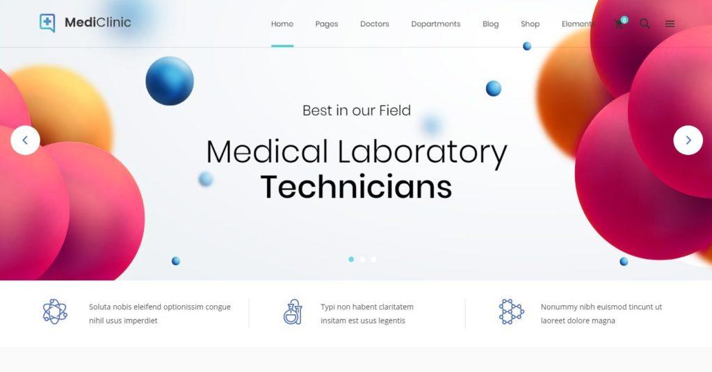 шаблоны сайта лаборатории: медицинские темы с каталогом и калькулятором цен 2