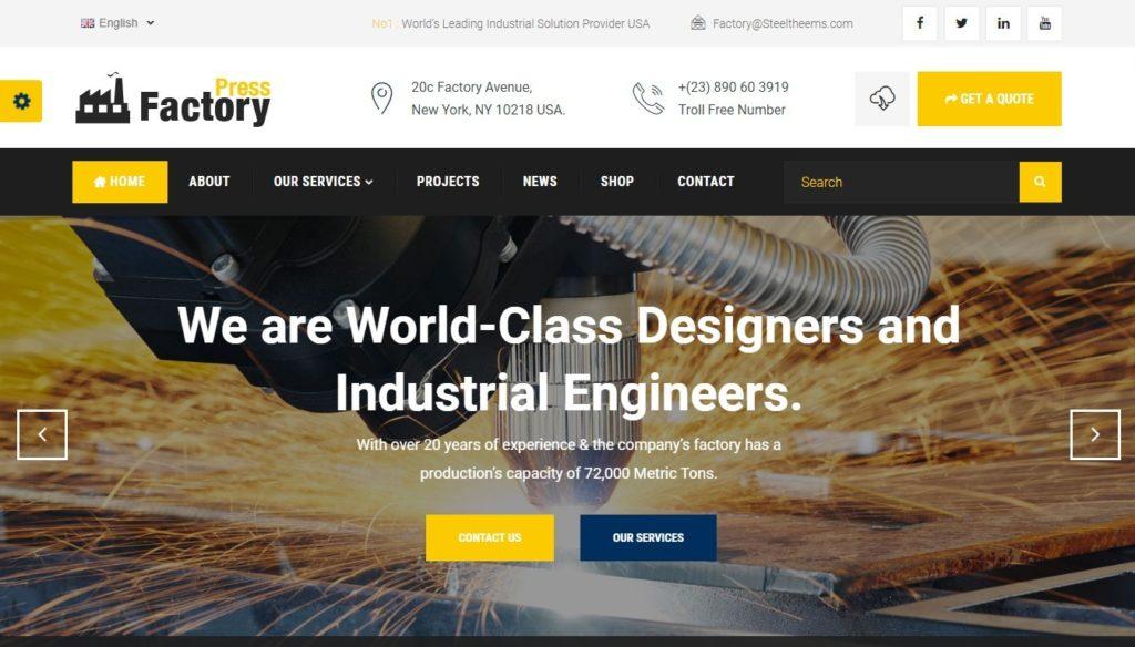 шаблоны Joomla строительная компания с блогом и магазином 2