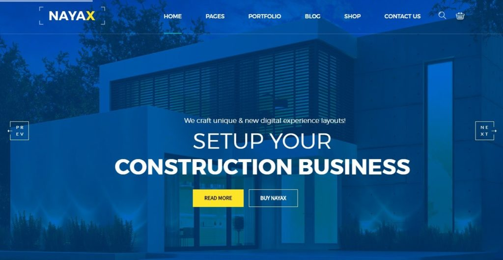 шаблоны Joomla строительная компания с блогом и магазином 3